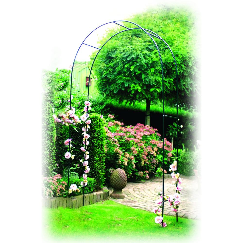 Arche À Rosiers En Acier dedans Arche De Jardin En Fer