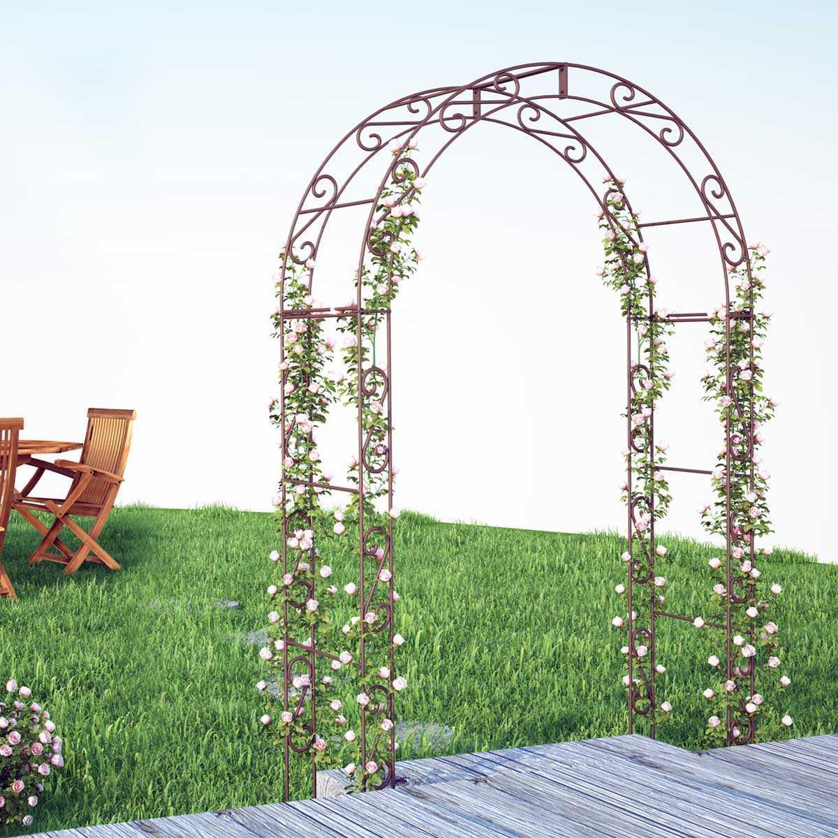 Arche De Jardin Arrondie En Acier Plein encequiconcerne Arche De Jardin En Fer
