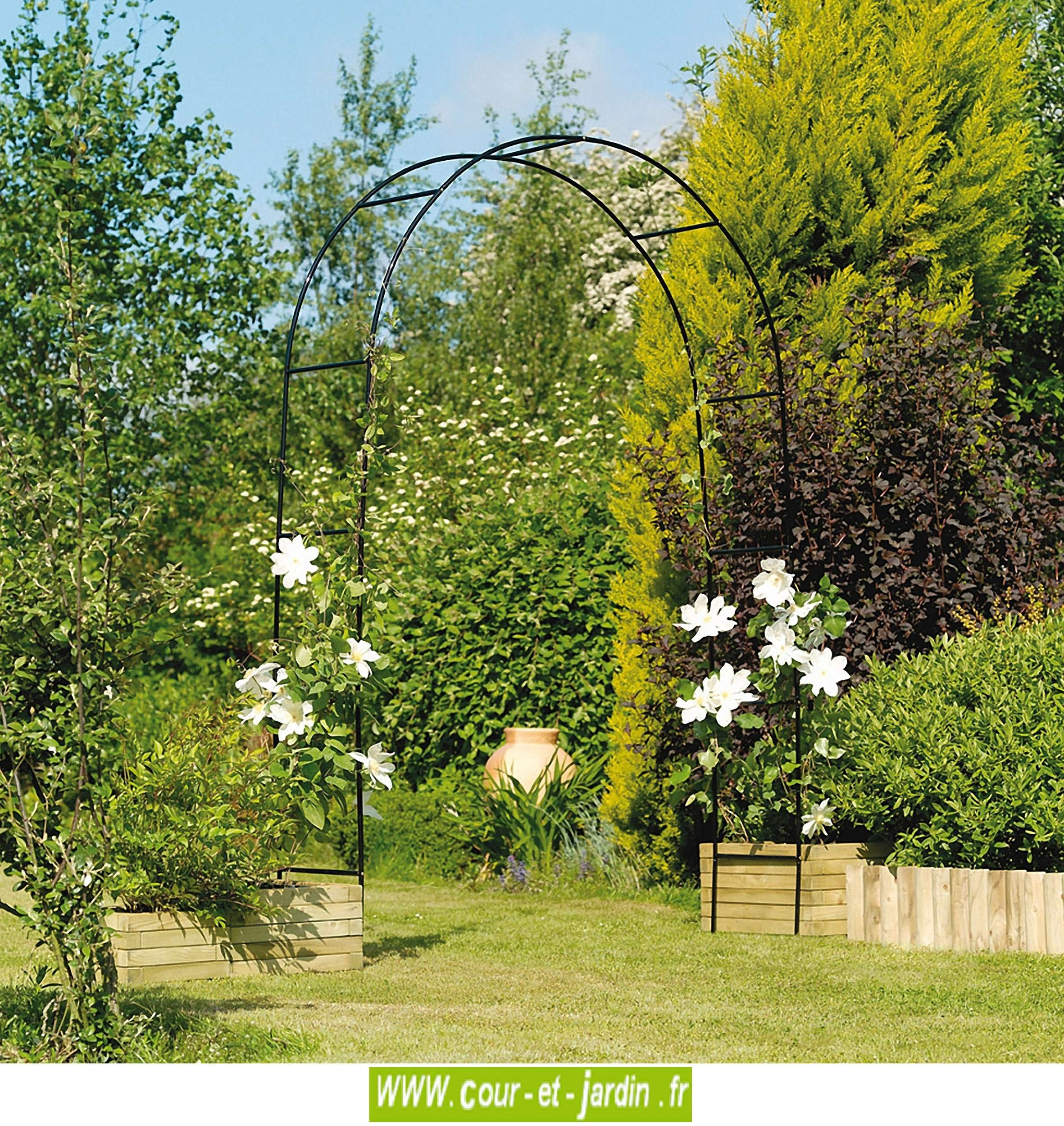 Arche De Jardin, En Métal Easy Arch - Pergola De Jardin ... dedans Arche De Jardin En Fer