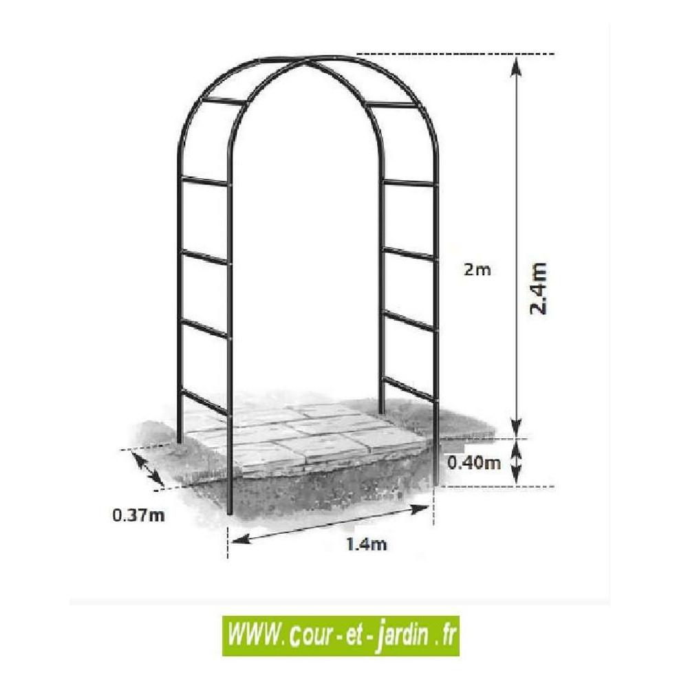 Arche De Jardin, En Métal Easy Arch - Pergola De Jardin ... intérieur Arche De Jardin En Fer