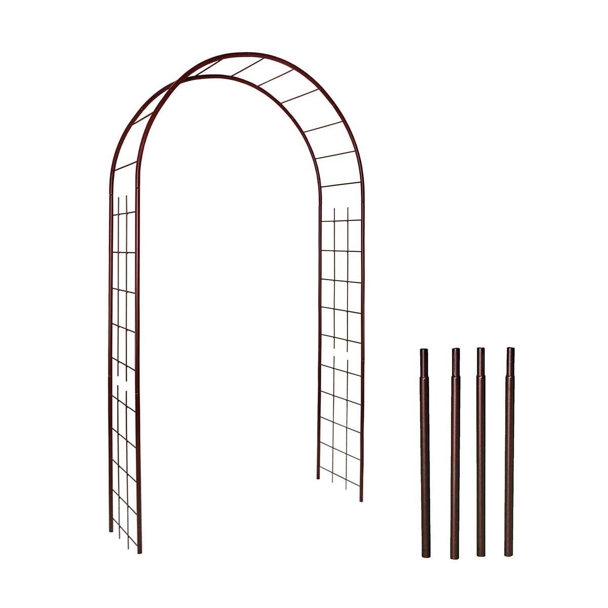 Arche De Jardin Treillage En Fer Petit Modèle + 4 Supports À ... tout Arche De Jardin En Fer