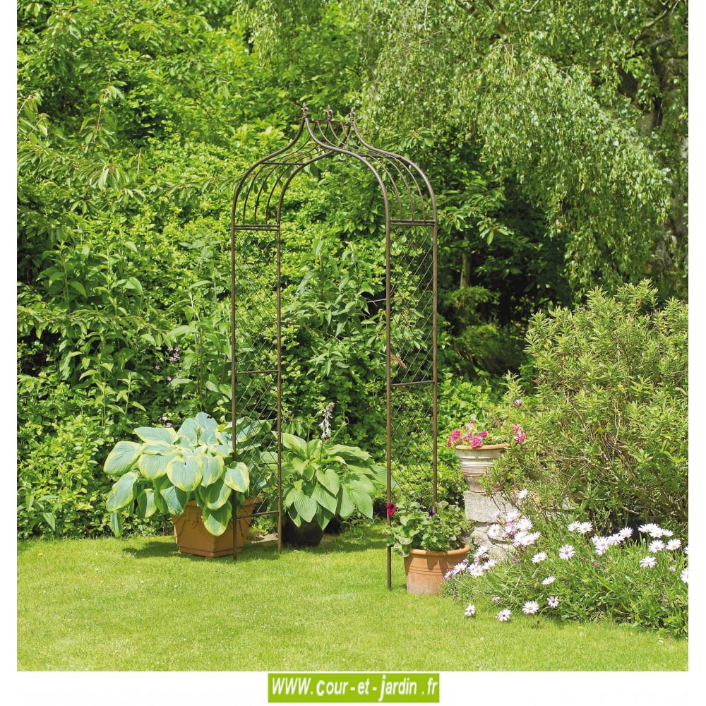 Arche De Jardin Versailles - Pergola Décorative En Métal ... tout Arche De Jardin En Fer