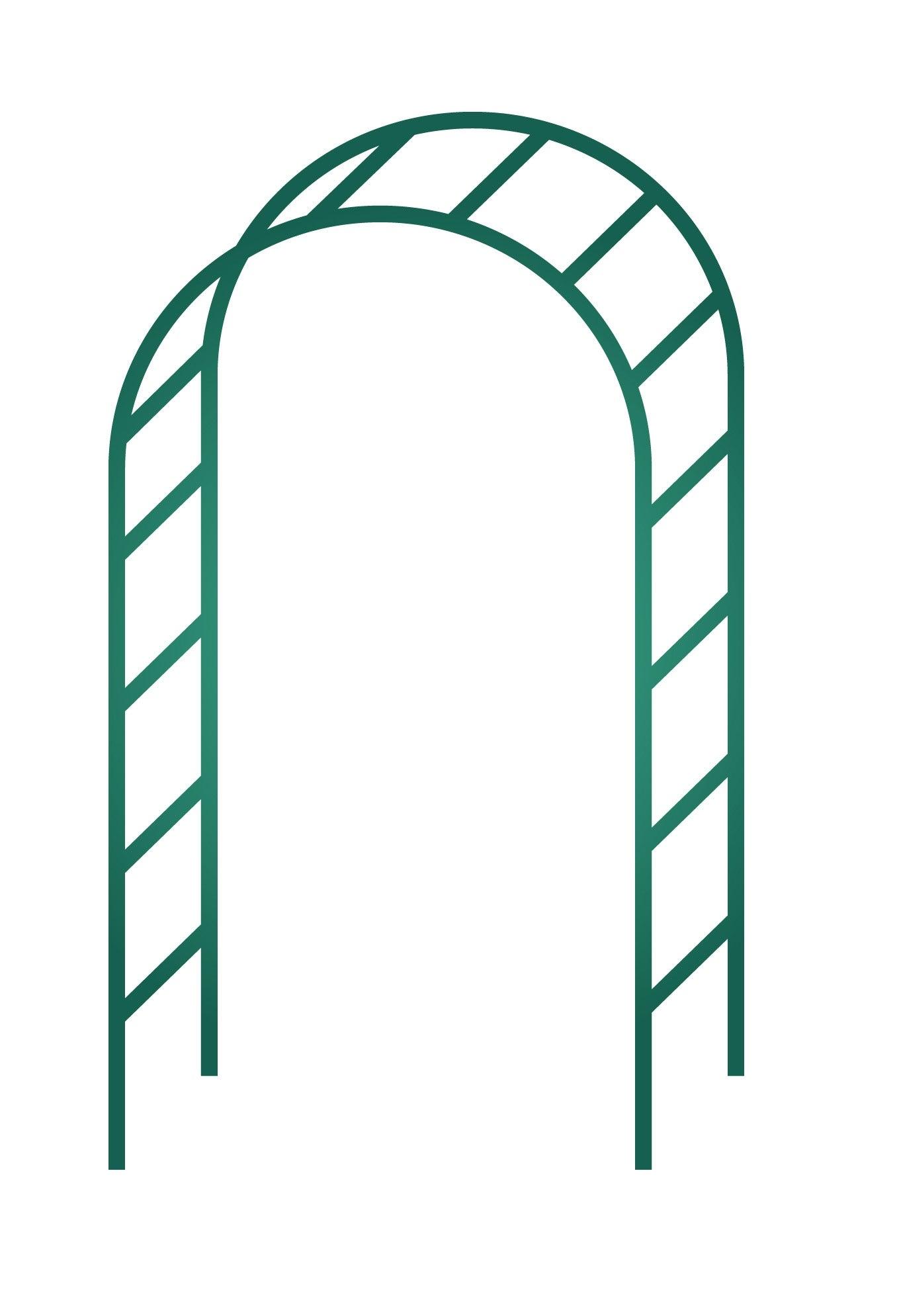 Arche Double Egt Garden L.140 X H.240 X P.40 Cm à Arceau Jardin