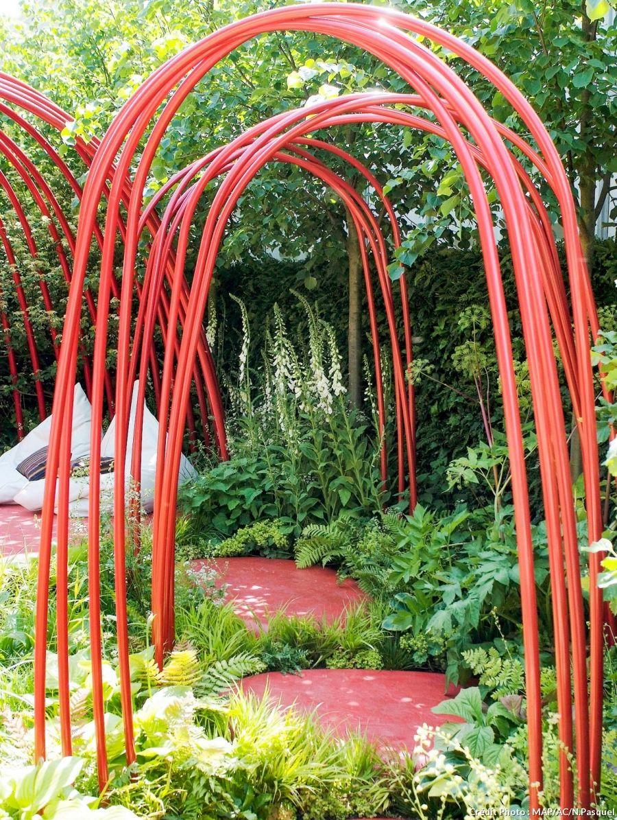 Arches Et Portiques : 7 Idées Pour Embellir Votre Jardin ... tout Arche De Jardin En Fer
