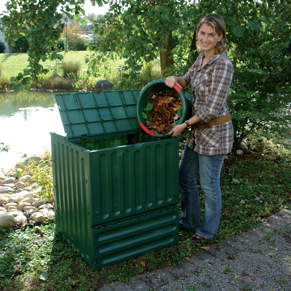 Bacs À Compost De Jardin Composteur Bio 400L Bacs À Compost ... destiné Composteur De Jardin
