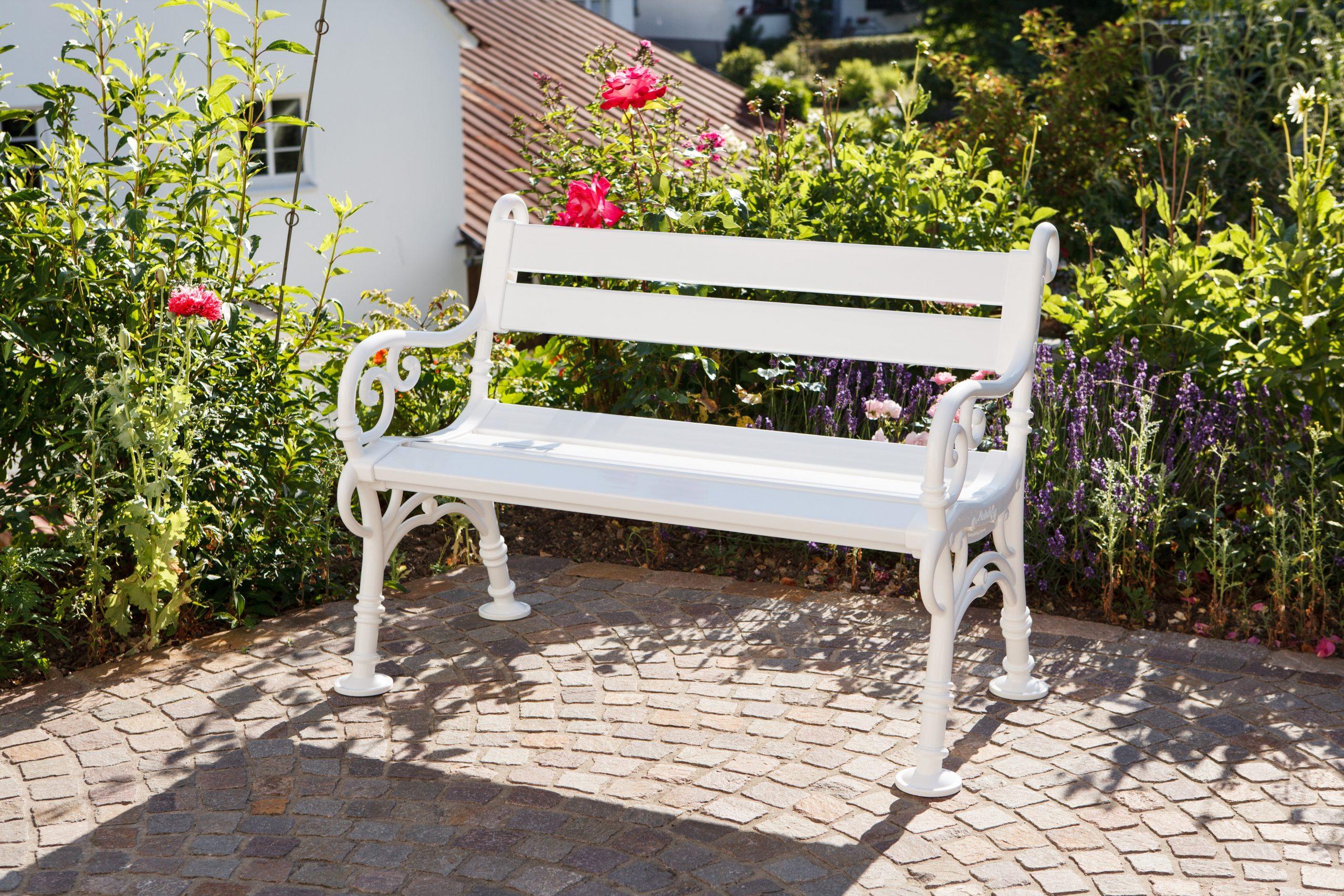 Banc De Jardin En Résine Blome Linderhof, 2 Personnes, Blanc avec Banc De Jardin Leroy Merlin