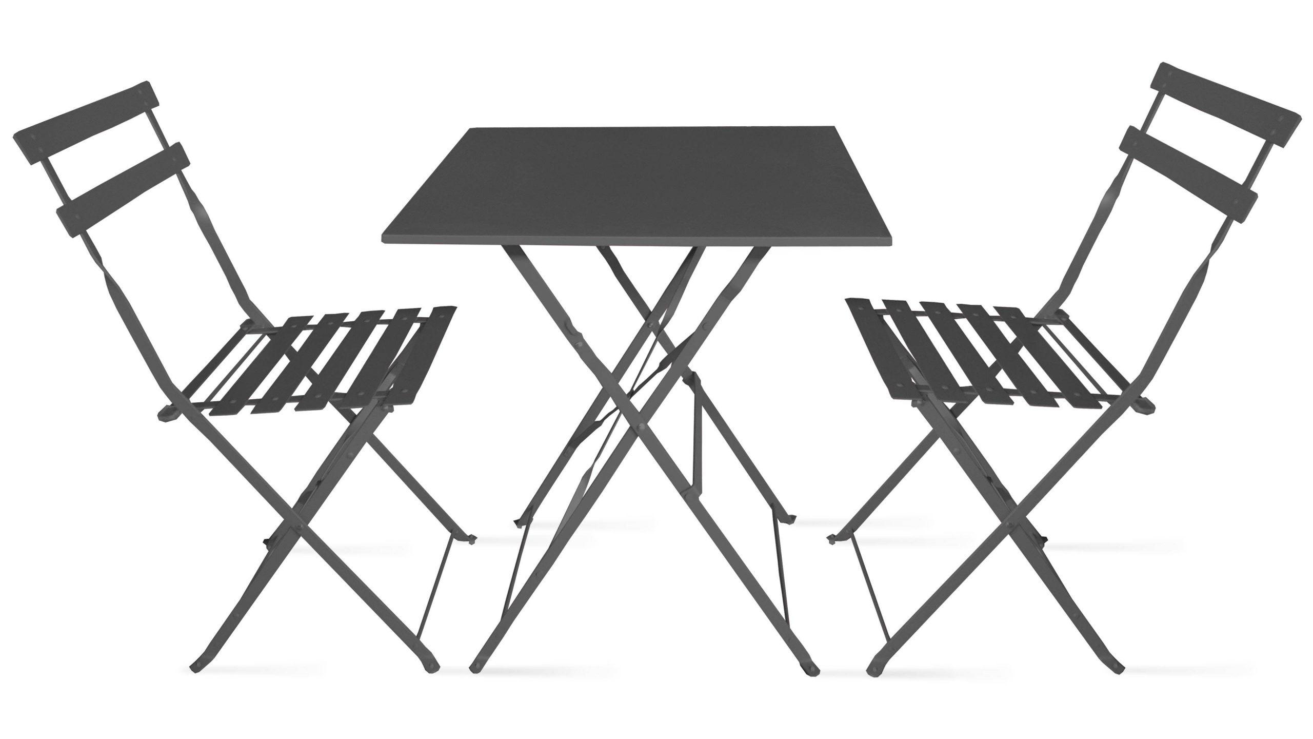Bistrot 2 Pliantes Intermarché De Chaises Table Et Jardin ... avec Intermarché Table De Jardin