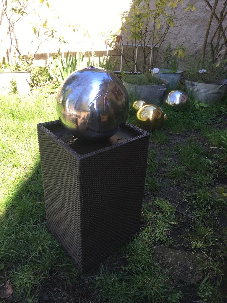 Blumfeldt Durance Fontaine Décorative De Jardin Led ... intérieur Boule Décorative Jardin
