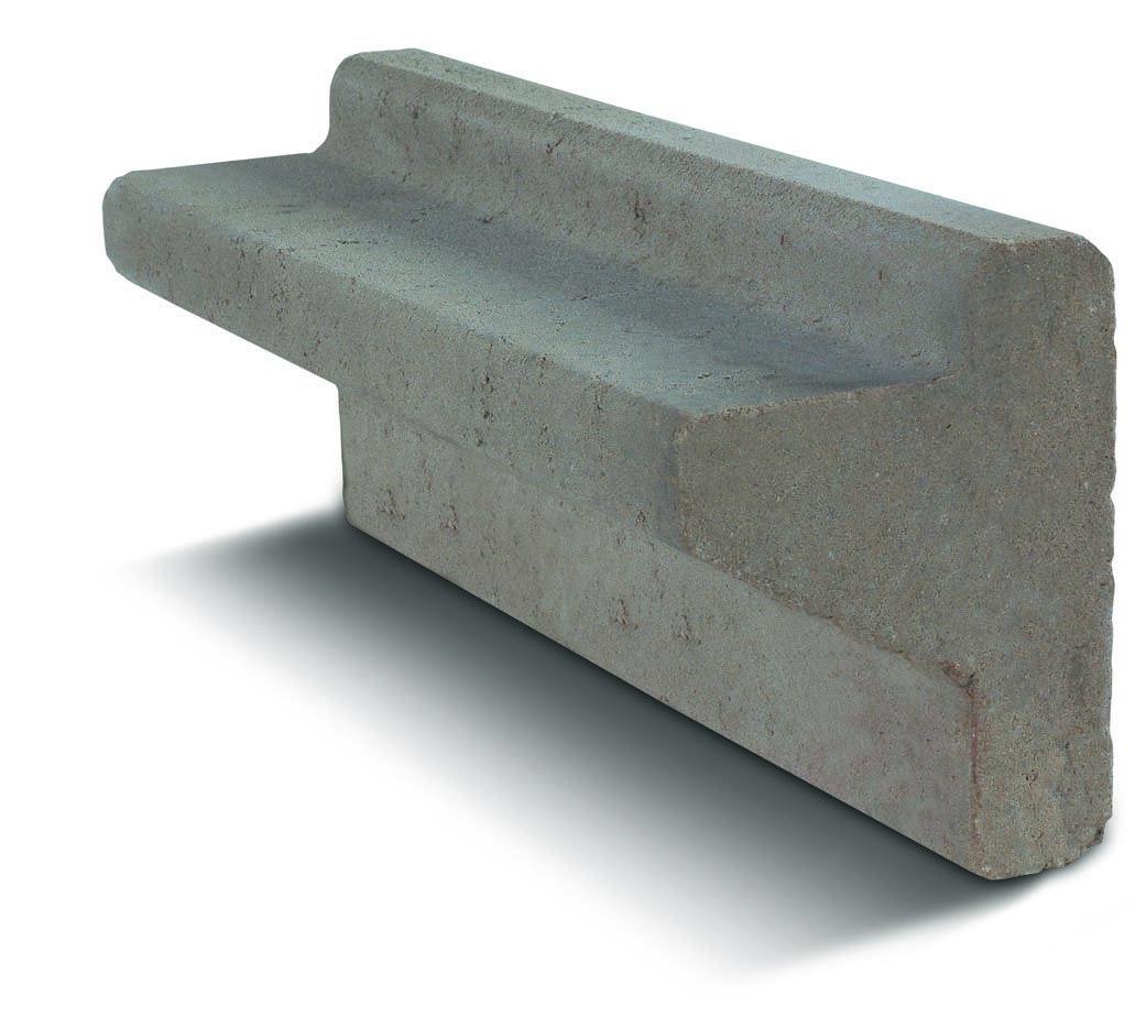 Bordure Avec Rebord Gris | Marlux | Bordure Beton pour Bordure De Jardin Beton