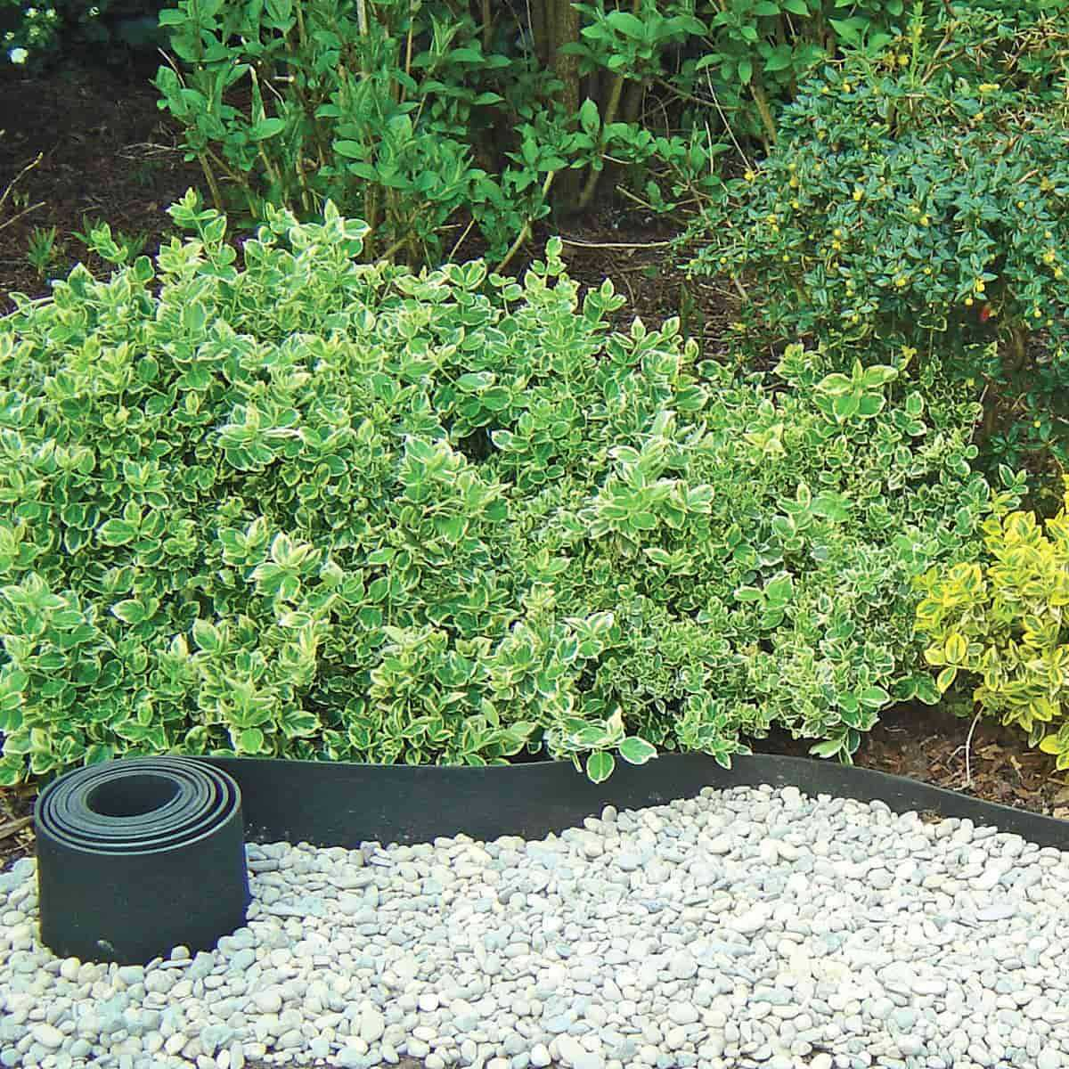 Bordure Caoutchouc Recyclé Gazon 5Mx13Cm encequiconcerne Bordure De Jardin En Pierre