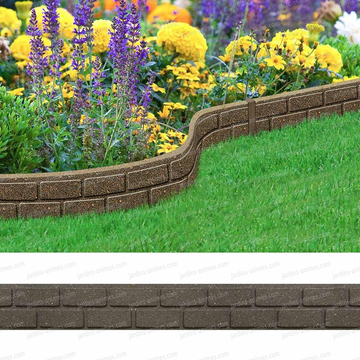 Bordure De Jardin 7,8 M • Couleur Marron Délimitation Jardin ... destiné Delimitation Jardin