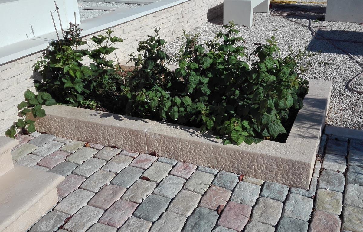 Bordure De Jardin Droite, Jardinière Modulable, Aspect ... concernant Bordure De Jardin En Pierre