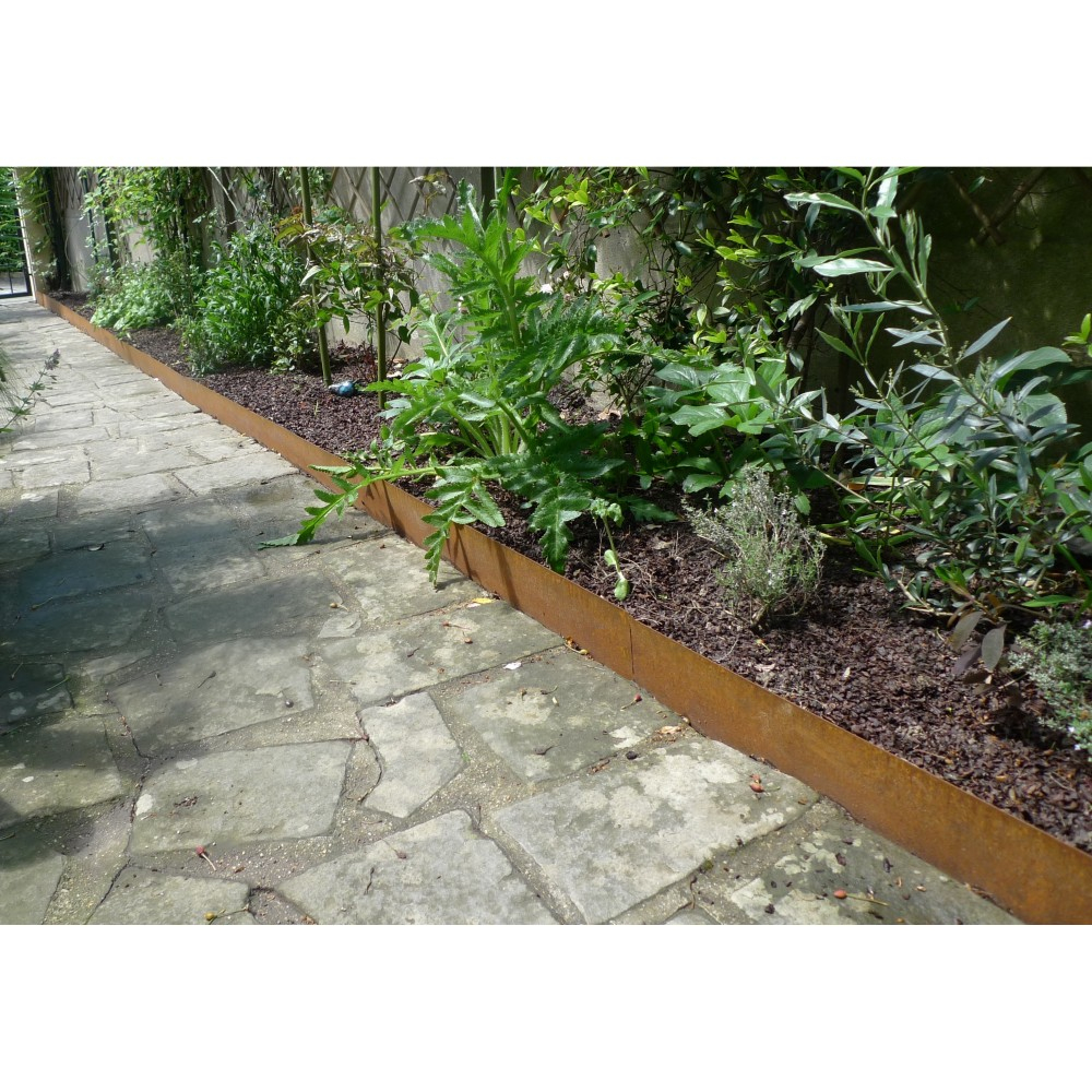 Bordure De Jardin / Volige En Acier Corten Pas Cher encequiconcerne Bordure Jardin Metal