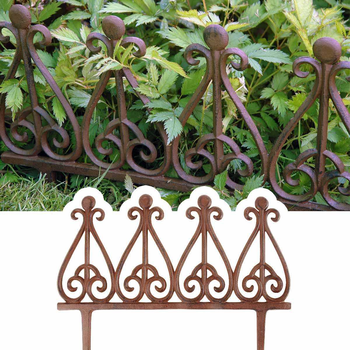 Bordure Métal Fonte Style Antique pour Bordure Jardin Metal