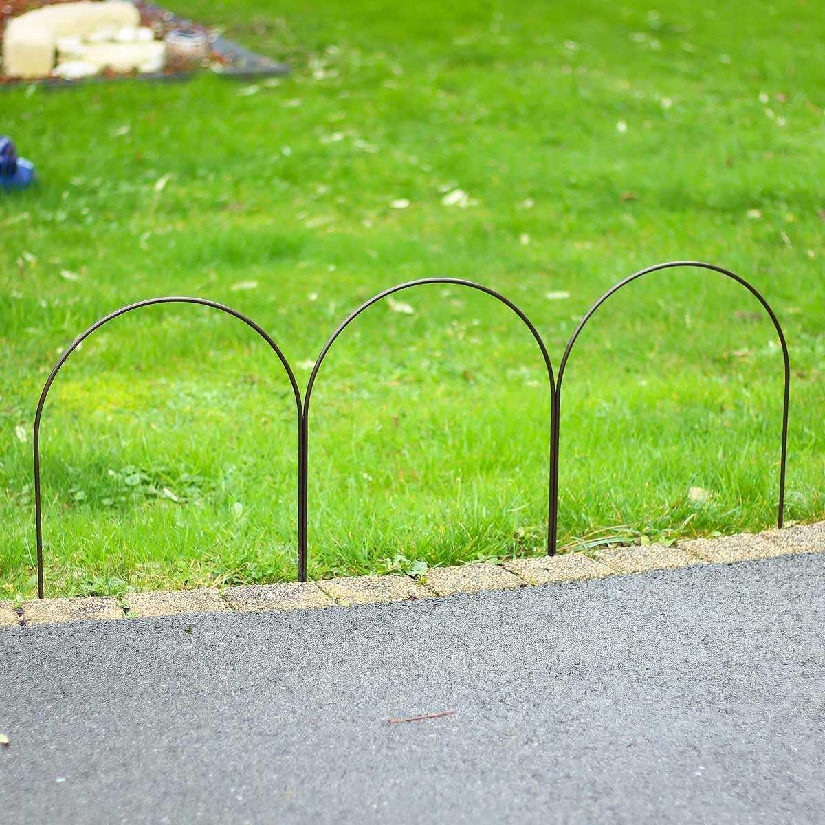 Bordure Triple Arceaux En Acier Plein L.100Cm X H.40Cm tout Arceau Jardin