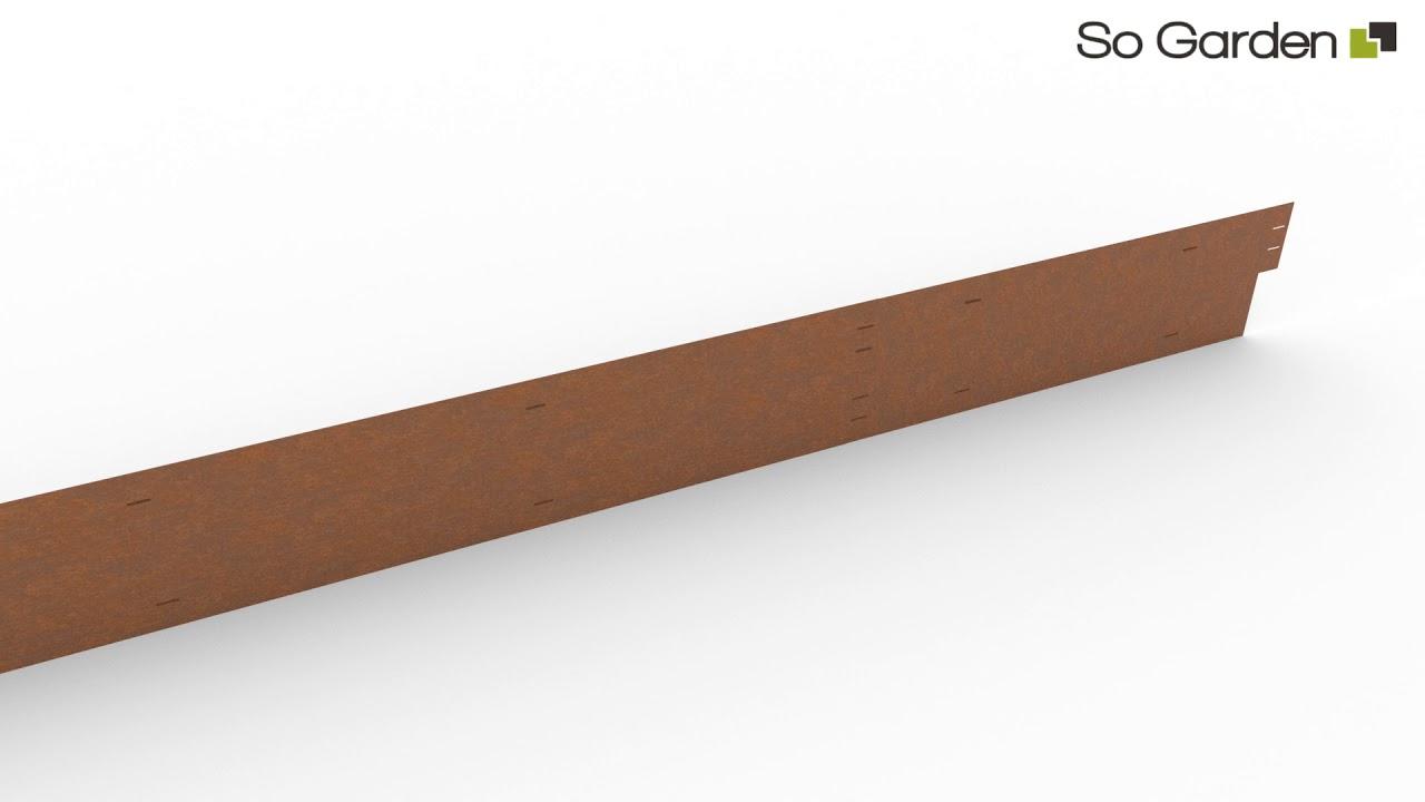 Bordures En Acier Corten Avec Système De Fixation destiné Bordure Jardin Metal