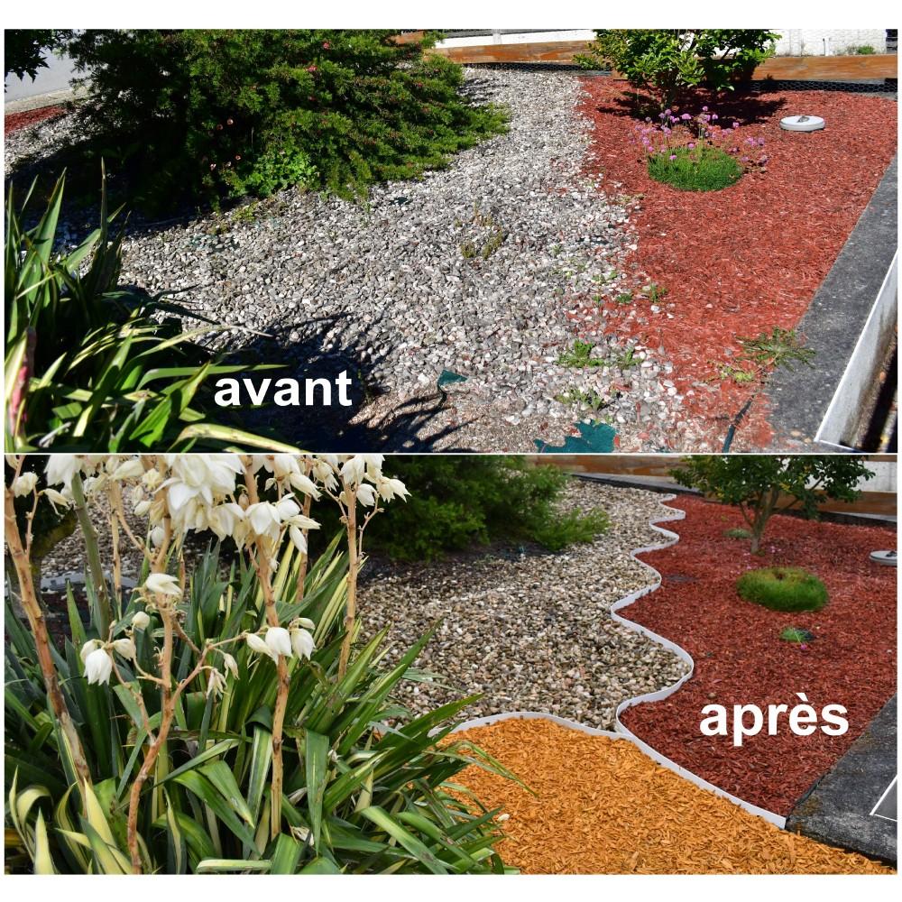 Bordures - Volige Jardin Pvc Blanc Souple Pas Chères avec Delimitation Jardin