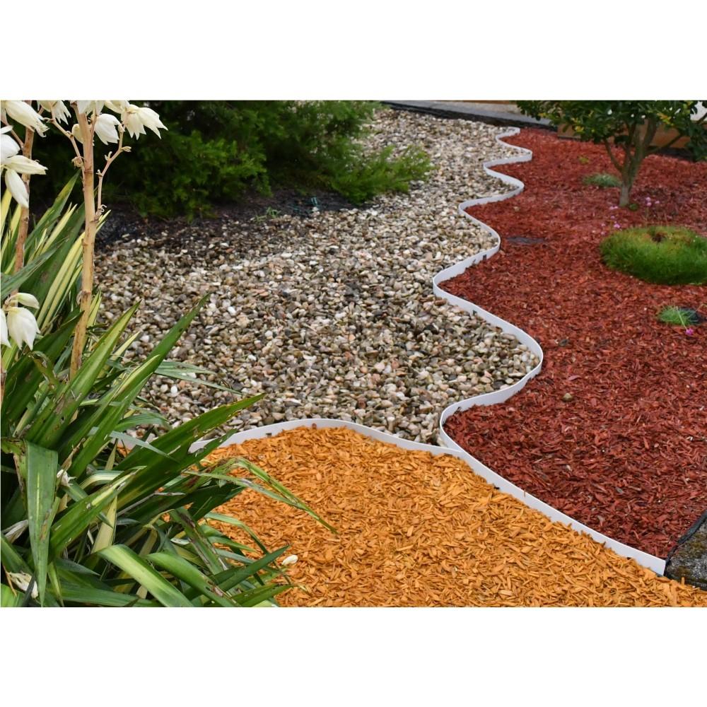 Bordures - Volige Jardin Pvc Blanc Souple Pas Chères encequiconcerne Bordure Jardin Pas Cher