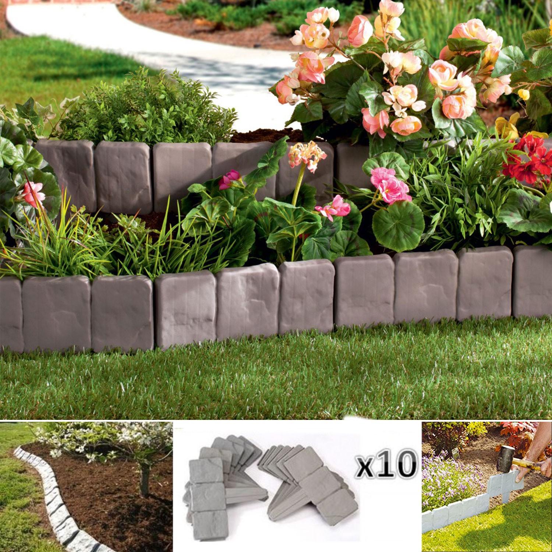 Bordurette De Jardin Imitation Pierre X10 Pièces Probache à Bordure Jardin Pas Cher