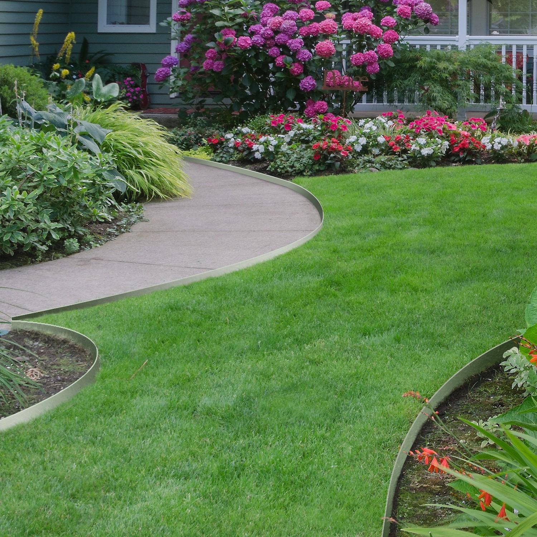 Bordurette De Jardin X5 En Acier L. 5 M X H. 0.14 M Idmarket pour Bordure Jardin Pas Cher