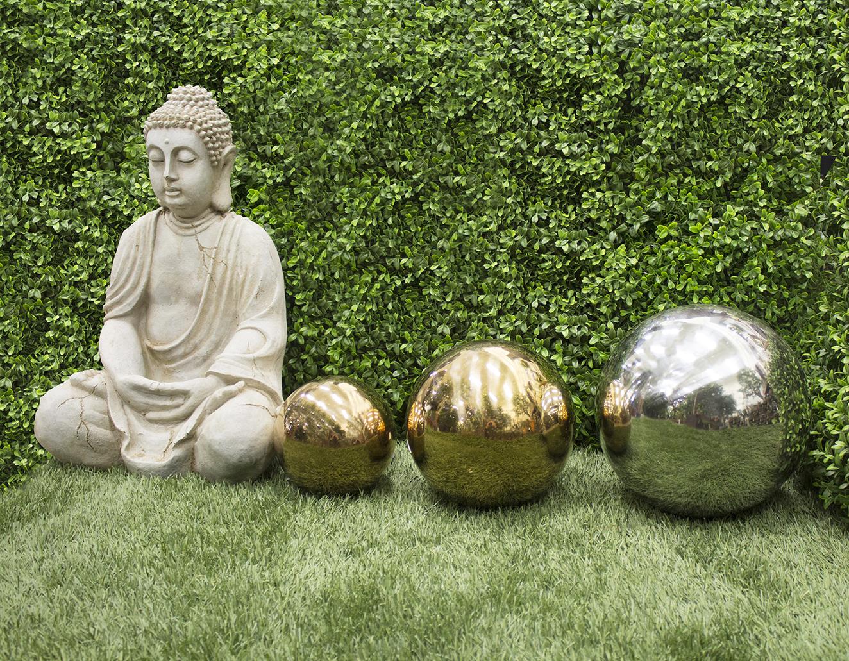 Boule Décorative Acier Inoxidable Cuivre 12'', Int./ext ... pour Boule Décorative Jardin