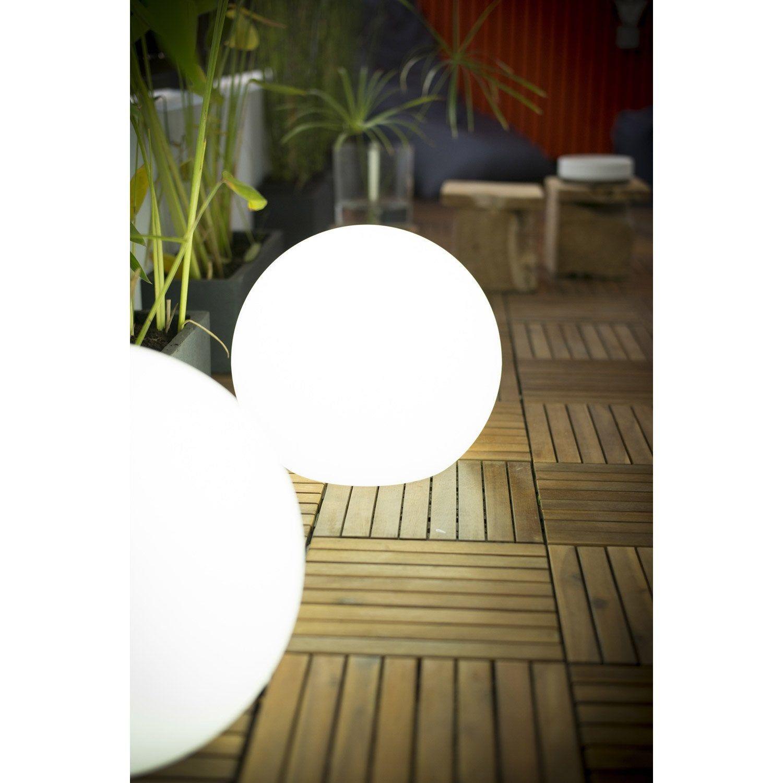 Boule Décorative Extérieure Buly, Diam 30Cm, E27 15 W = 800 ... concernant Boule Lumineuse Jardin
