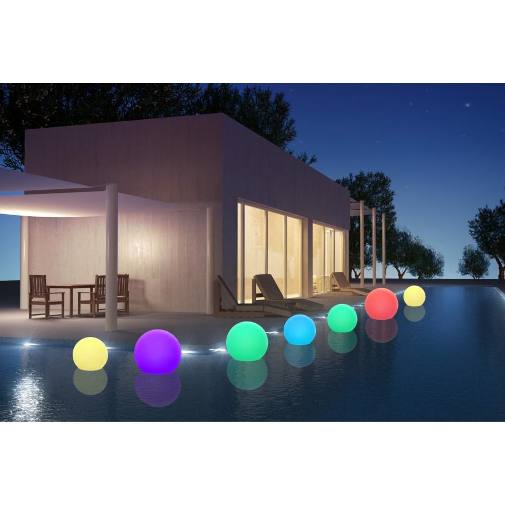 Boule Lumineuse Autonome Diamètre 30Cm avec Boule Lumineuse Jardin