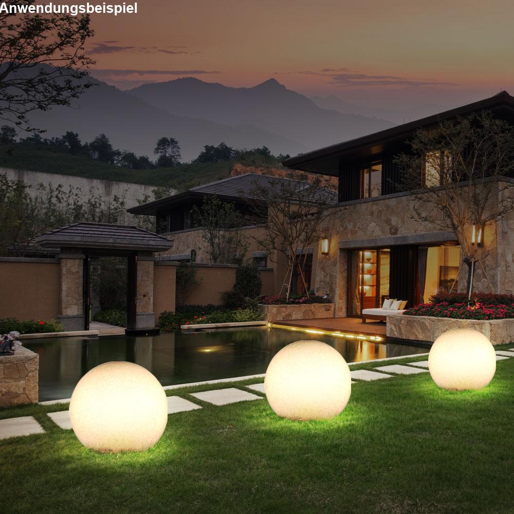 Boule Lumineuse Luminaire Extérieur Pierre Véranda Jardin Éclairage  Décoration encequiconcerne Boule Lumineuse Jardin