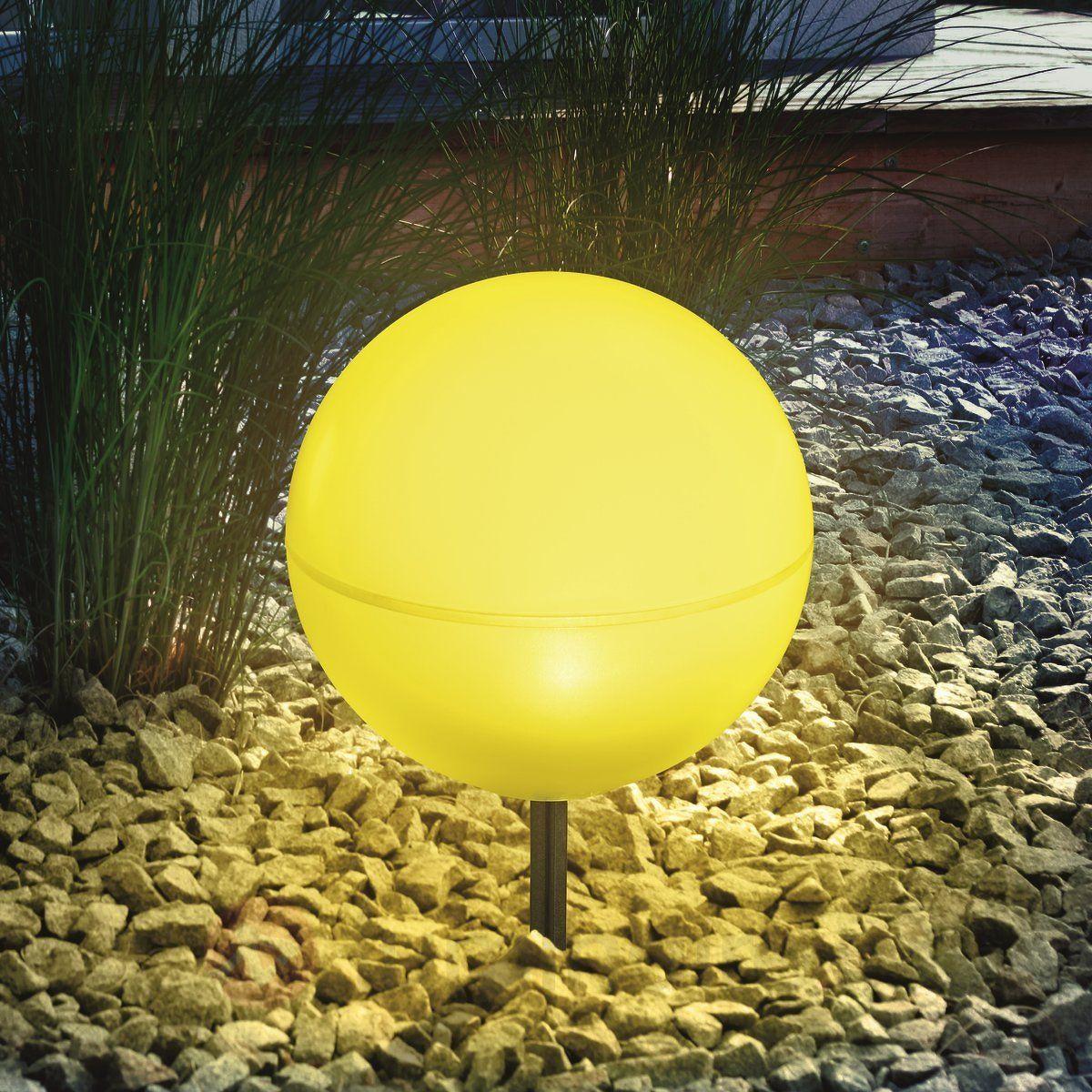Boule Lumineuse Solaire Flexible Jaune | Boule Lumineuse ... pour Boule Décorative Jardin