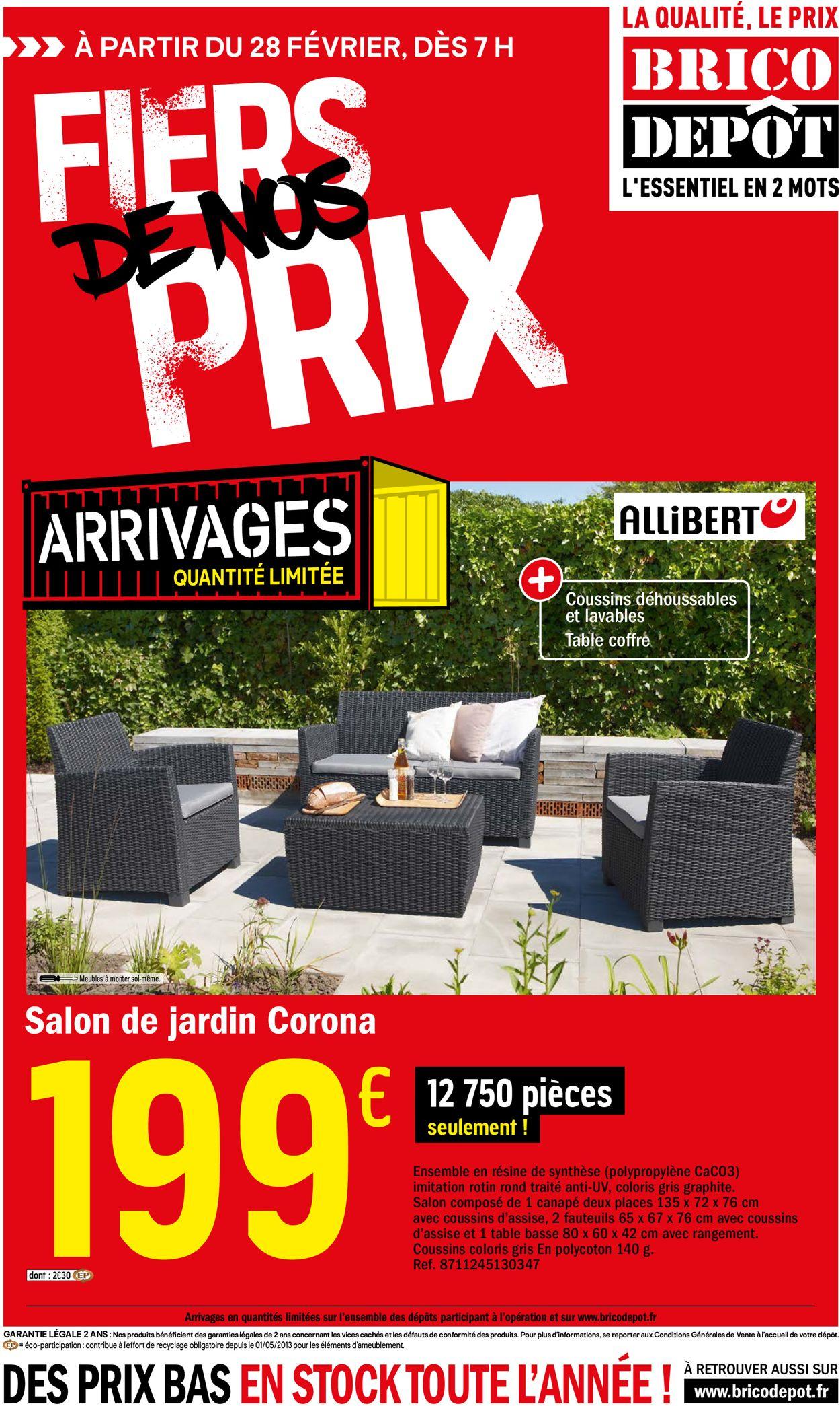 Brico Dépôt Catalogue Actuel 28.02 - 18.03.2020 - Catalogue ... dedans Salon De Jardin Allibert Brico Depot