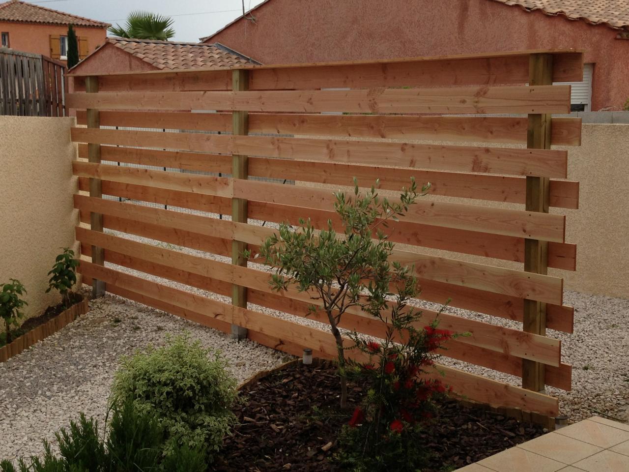 Brise Vue, Séparation Entre Garage Et Jardin encequiconcerne Separation De Jardin