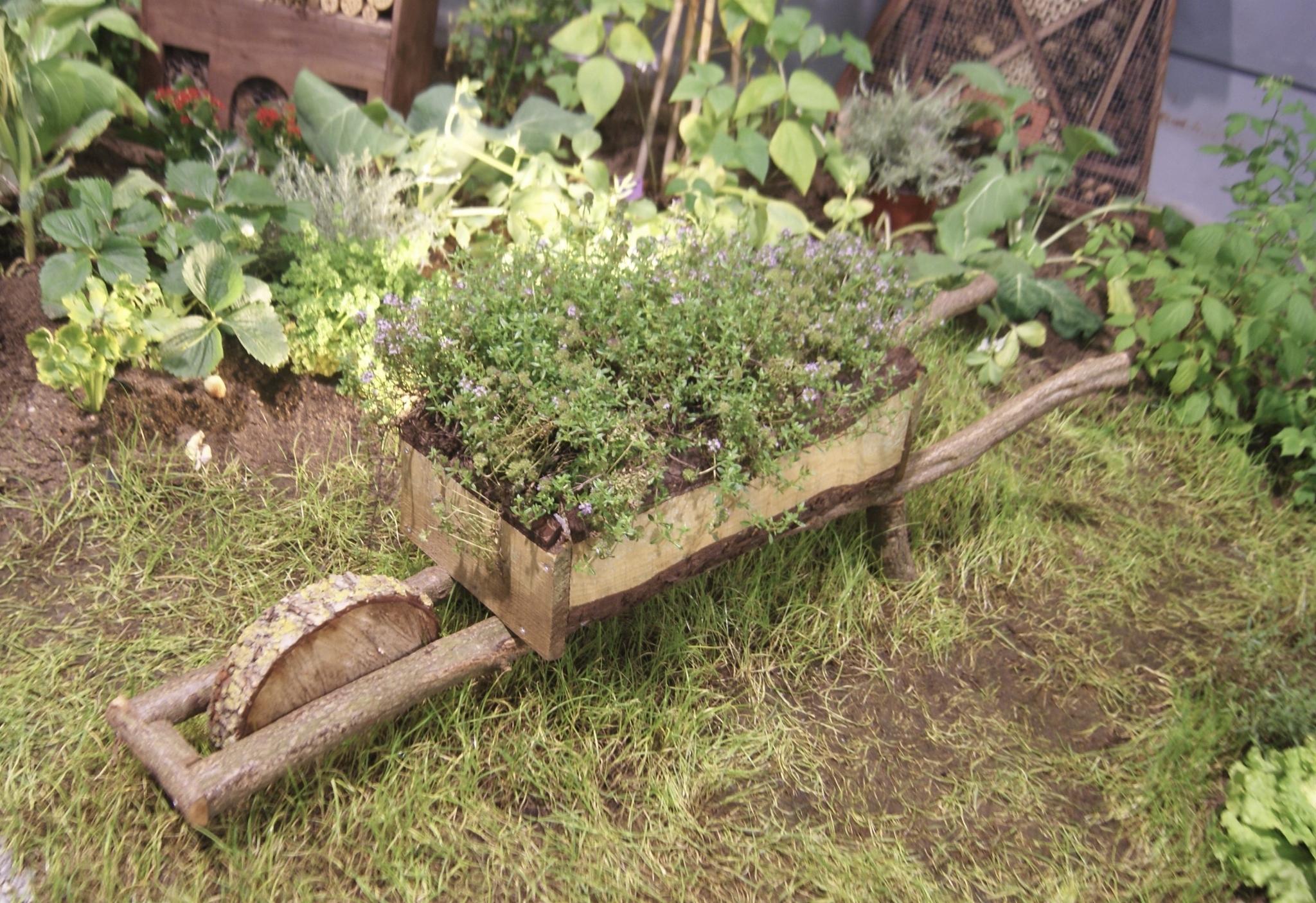 Brouette En Bois - Envie De Jardin pour Brouette Deco Jardin