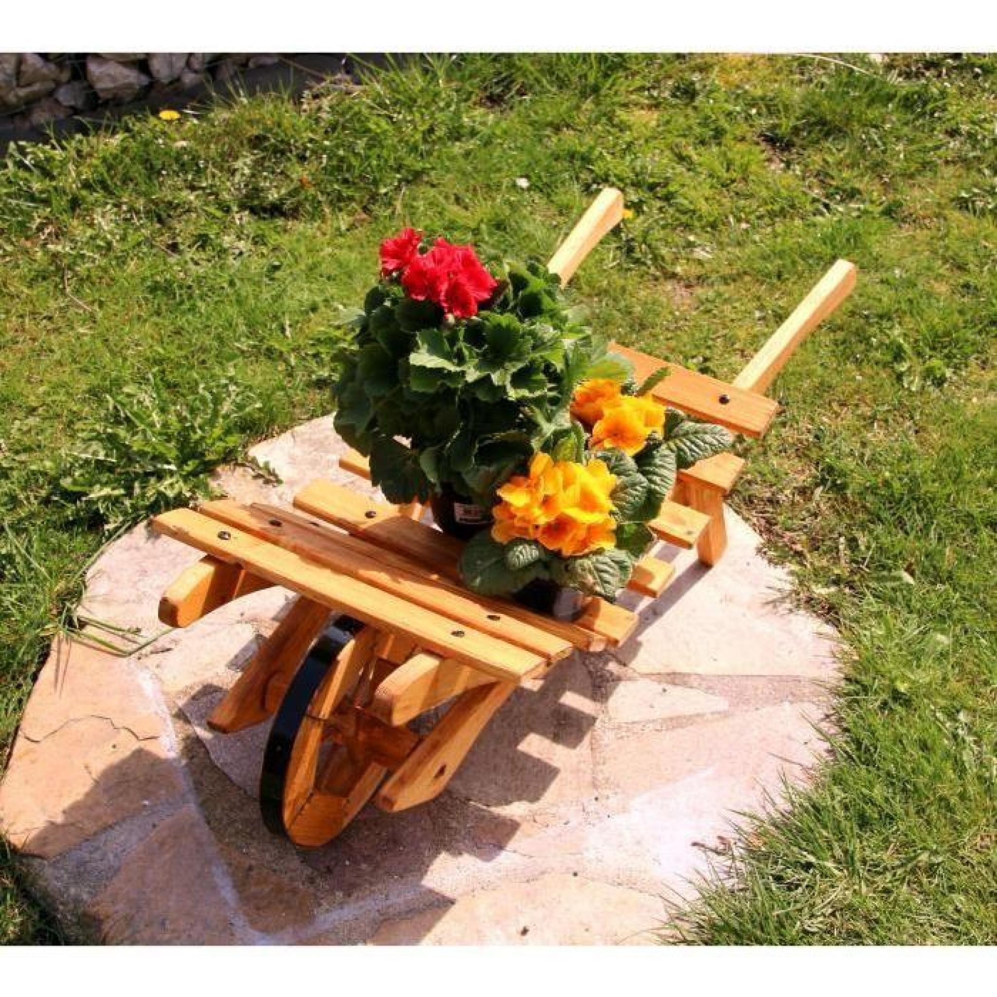 Brouette Fleurs Diable Brouette En Bois Typ 3 Petit encequiconcerne Brouette Deco Jardin
