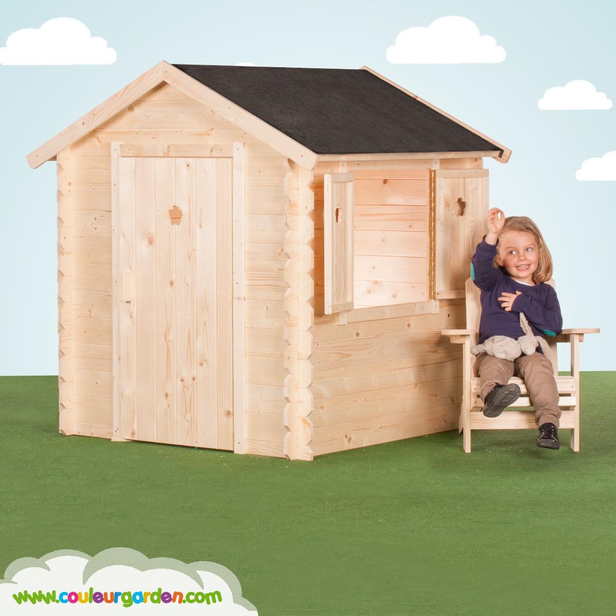 Cabane De Jardin En Bois Pas Cher Maison En Bois Pour Enfant ... pour Cabane De Jardin Pour Enfants