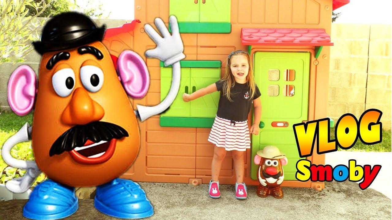 Cabane D'extérieur Maison Duplex Smoby Pour Enfant Envahie ... encequiconcerne Maison Jardin Smoby