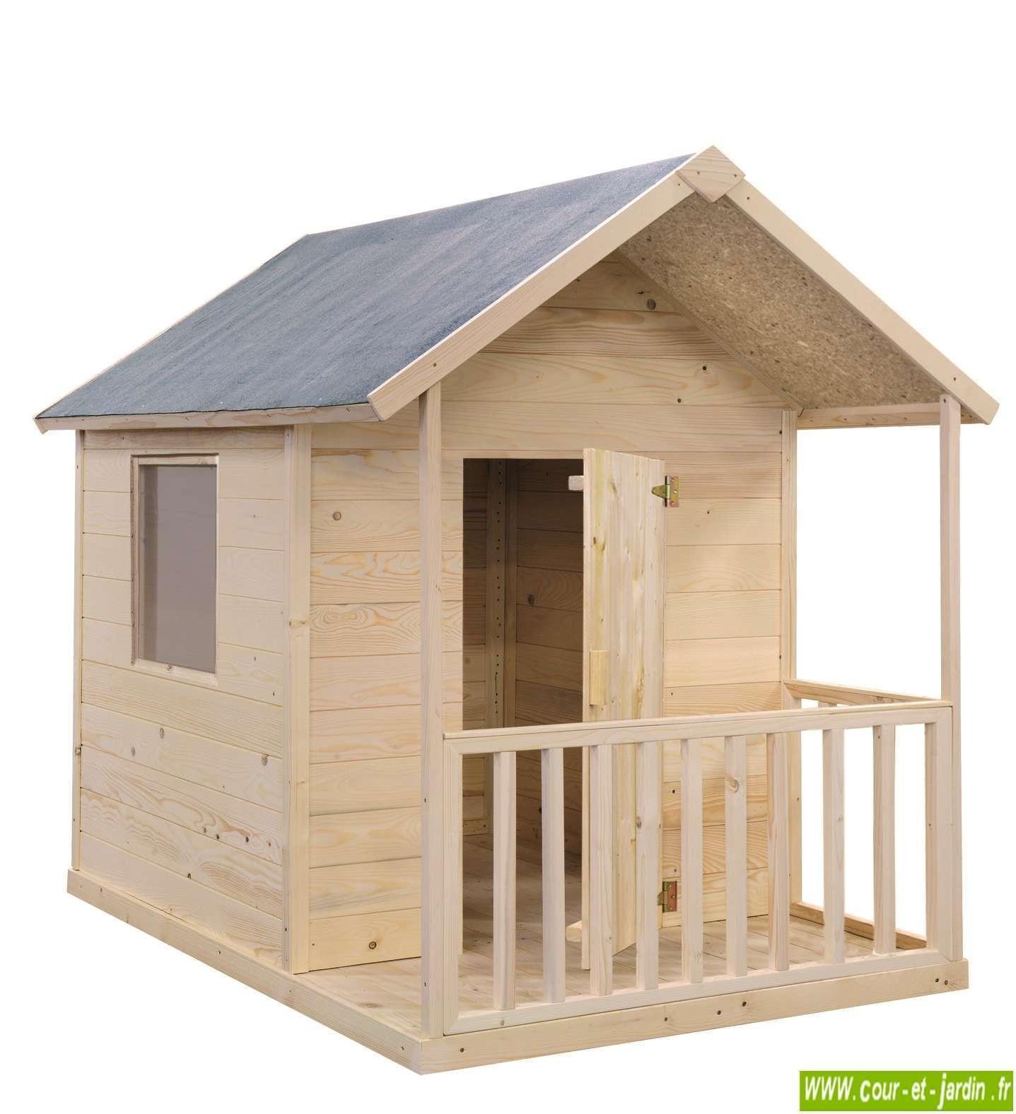 Cabane En Bois Pour Enfant, Cabane De Jardin Pour Enfants ... destiné Maison De Jardin Pour Enfants