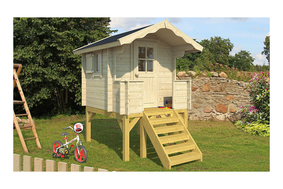 Cabane Enfant Funny 28Mm - 2.08 M² Intérieur tout Cabane De Jardin Pour Enfants