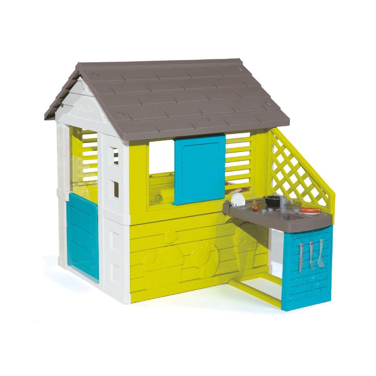 Cabane Enfant Pretty + Cuisine D'été Smoby - Taille : Taille ... destiné Maison De Jardin Smoby