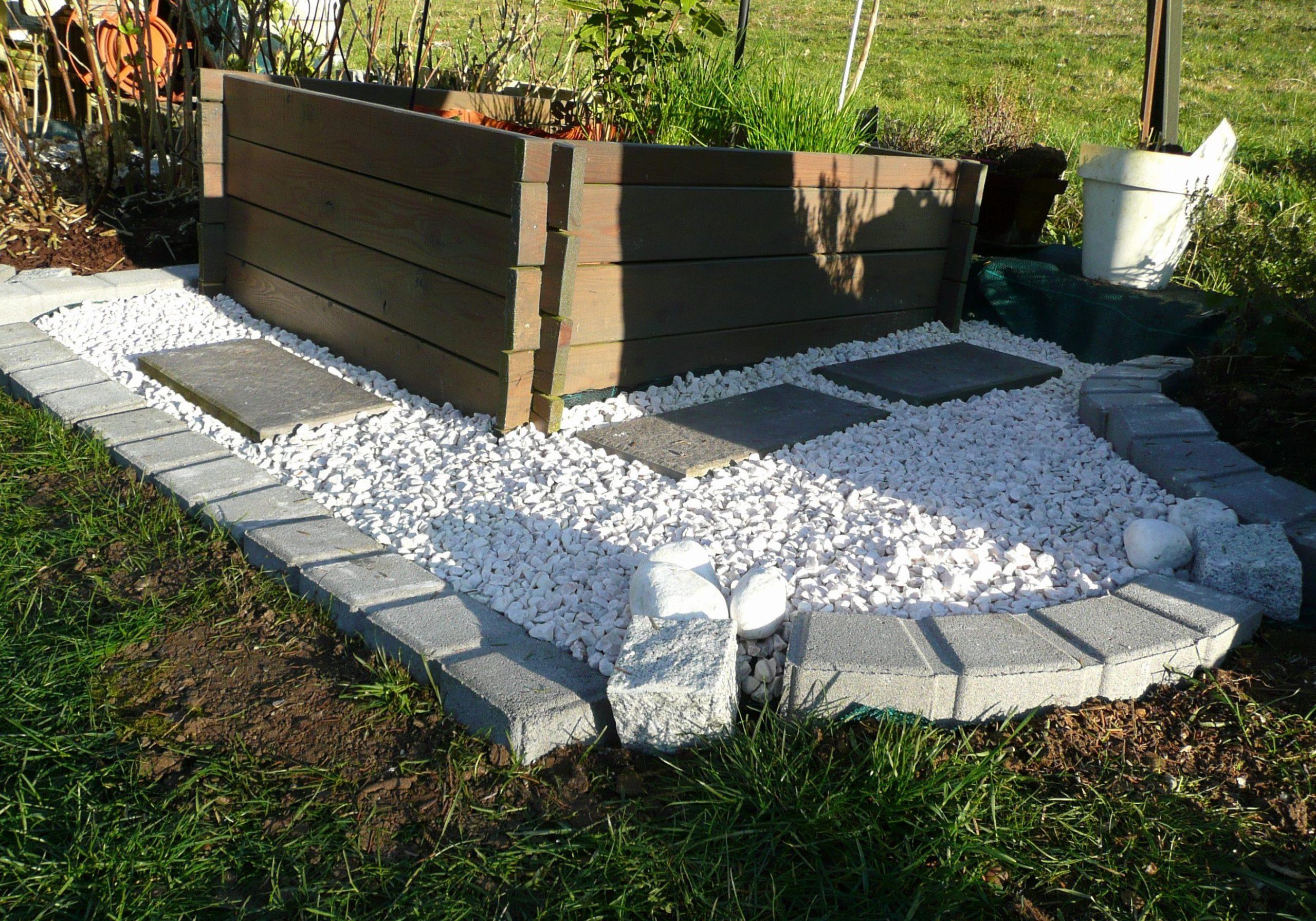 Cailloux Blanc Jardin Fresh Amenagement Jardin Avec Gravier ... tout Jardin Avec Galets Blancs