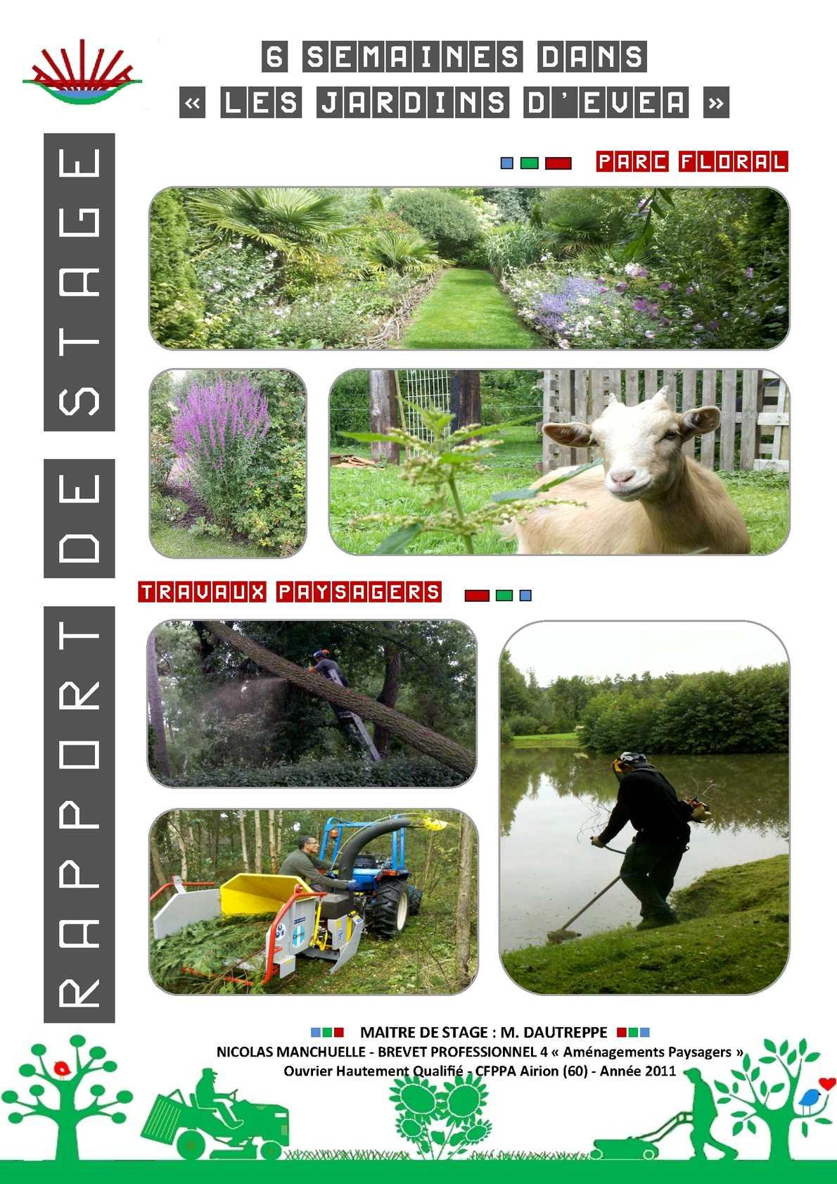 Calaméo - Rapport De Stage Bp4 Aménagements Paysagers ... encequiconcerne Exemple D Aménagement De Jardin