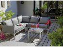 Canapé D'Angle Oslo Blanc Argent + Table Basse encequiconcerne Canapé D Angle De Jardin