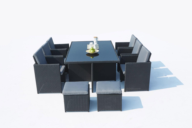 Cassis 10 Noir/gris encequiconcerne Salon De Jardin Monaco