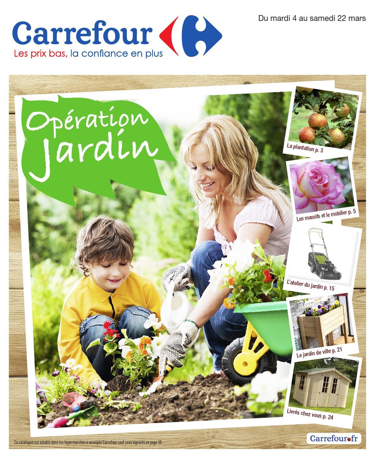 Catalogue Carrefour - 4-22.03.2014 By Joe Monroe - Issuu pour Abris De Jardin Carrefour