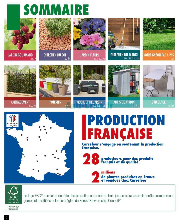 Catalogue Carrefour Du 01 Au 18 Mars 2019 (Jardin ... intérieur Abris De Jardin Carrefour