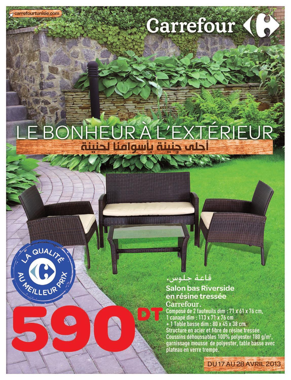 Catalogue Carrefour Le Bonheur À L'extérieur By Carrefour ... intérieur Salon Jardin Resine Carrefour
