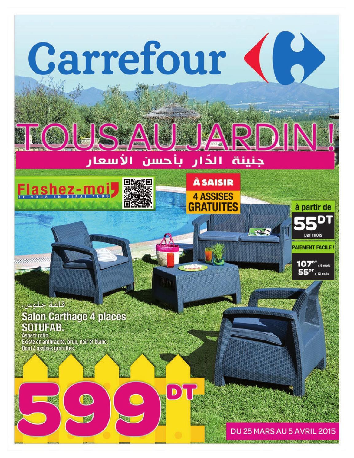 """Catalogue Carrefour """"tous Au Jardin !"""" By Carrefour Tunisie ... tout Transat Jardin Carrefour"""
