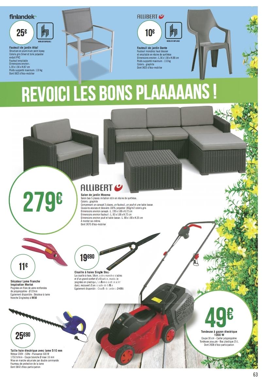 Catalogue Casino Mobilier Et Outils De Jardin Du 5 Mars Au ... dedans Salon De Jardin Geant Casino