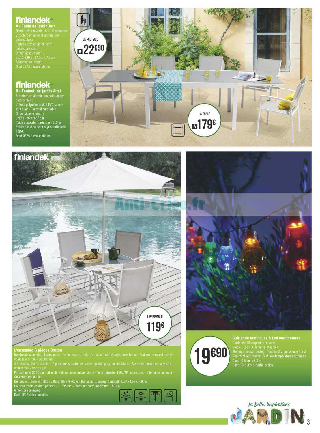 Catalogue Géant Casino Du 02 Au 28 Avril 2019 (Jardin ... destiné Salon De Jardin Geant Casino