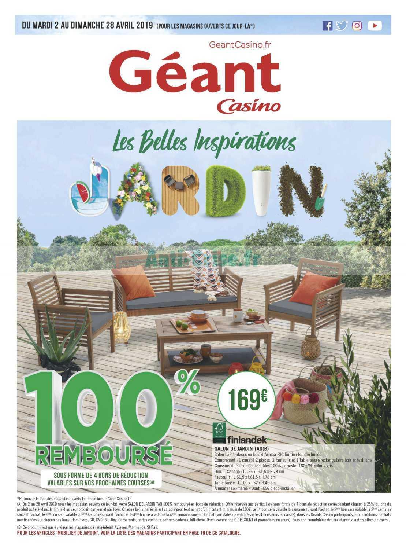 Catalogue Géant Casino Du 02 Au 28 Avril 2019 (Jardin ... pour Table De Jardin Geant Casino