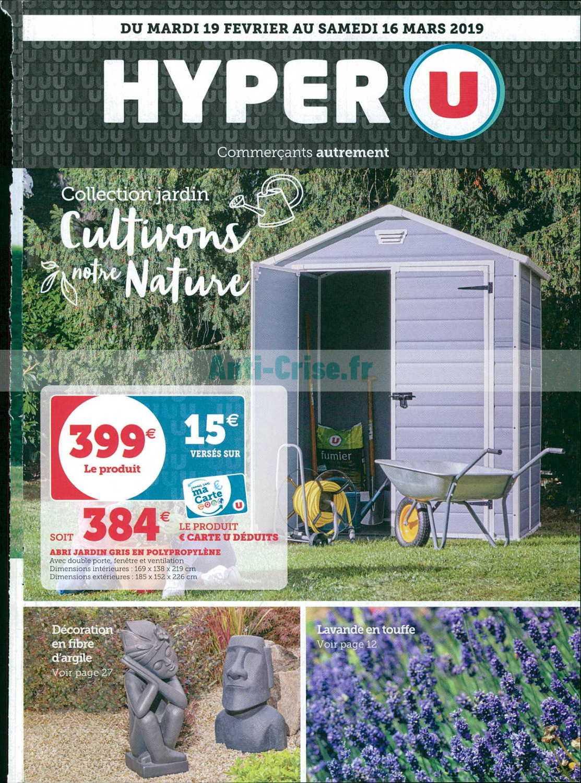 Catalogue Hyper U Du 19 Février Au 16 Mars 2019 (Jardin ... intérieur Super U Salon De Jardin